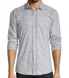 White Striped Stretch Shirt