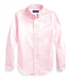 Boys Carmel Pink Garment-Dyed Shirt