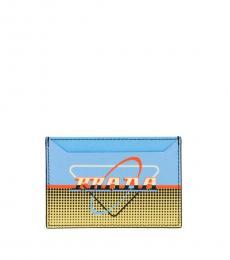 Prada Multicolor Oval Card Holder
