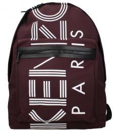 Kenzo Violet Logo Large Backpack