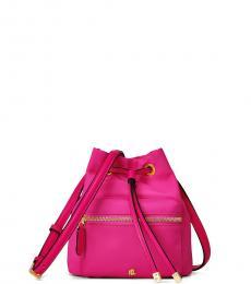 Ralph Lauren Deep Fuchsia Debby II Mini Bucket Bag
