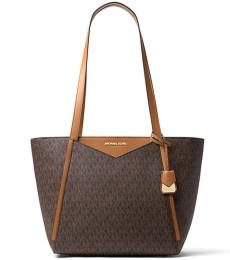 Michael Kors Brown Whitney Signature Large Tote
