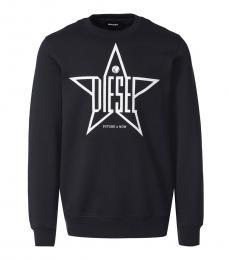 Diesel Black Graphic Logo Sweatshirt