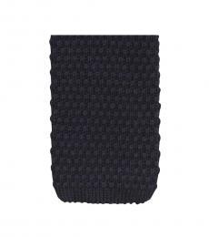 Classic Navy Knit Tie