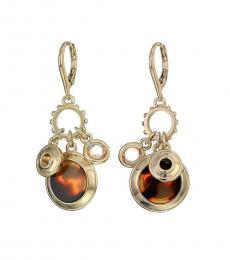 Ralph Lauren Tortoise-Gold Charm Drop Earrings