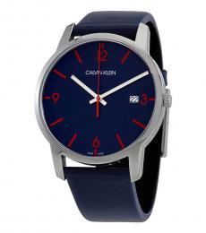 Calvin Klein Blue City Blue Dial Watch