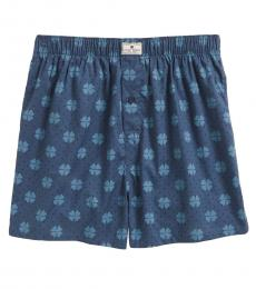 Lucky Brand Dark Blue Cotton Woven Boxers
