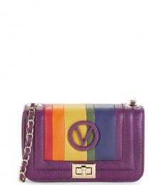 Mario Valentino Purple Beatriz Sauvage Small Shoulder Bag