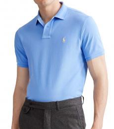 Ralph Lauren Cabana Blue Custom Slim Fit Polo