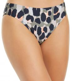 DKNY Grey Printed Bikini Bottoms