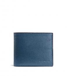 Coach Dark Denim Compact Id Wallet