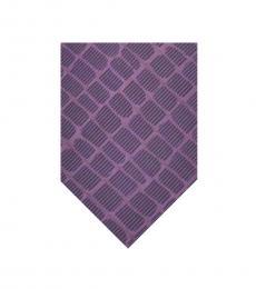 Armani Collezioni Purple-Blue Geometric Tie