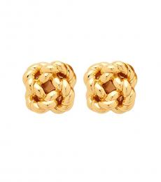 Tory Burch Gold Rope Knot Stud Earrings
