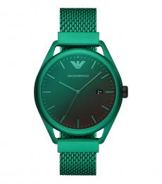 Emporio Armani Green Black Dial Watch