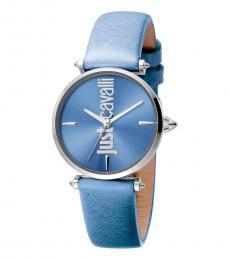 Just Cavalli Blue Logo Blue Dial Watch