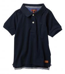 7 For All Mankind Little Boys Navy Short Sleeve Slouchy Polo