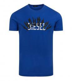 Diesel Dark Blue Graphic Logo T-Shirt
