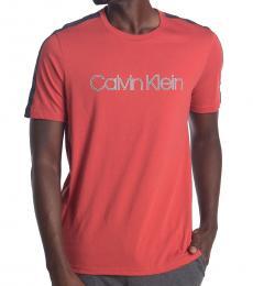 Calvin Klein Red Crew Neck Logo T-Shirt