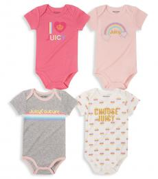 Juicy Couture 4 Piece Bodysuits Set (Baby Girls)