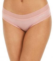 Calvin Klein Alluring Blush Striped-Waist Hipster Underwear