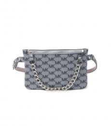 Michael Kors Navy Pull Chain Belt Bag