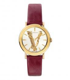 Red V Virtus Logo Watch