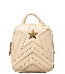 Stella McCartney Beige Star Small Backpack