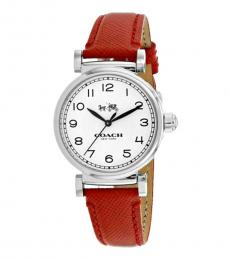 Coach Red Madison Watch