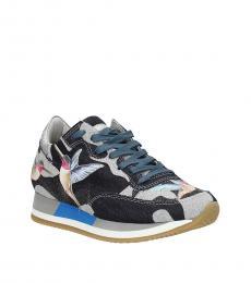 Blue Birds Print Sneakers