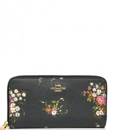Coach Midnight Floral Accordion Wallet