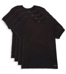 Black 4-Pack Cotton T-Shirt
