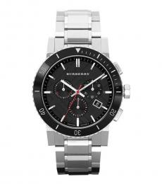 Burberry Silver Chronograph Watch
