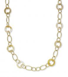 Gold Horn Link Necklace