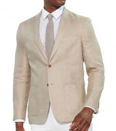 Michael Kors Tan Linen Sport Coat