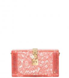 Dolce & Gabbana Pink Box Clutch