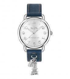 Coach Blue Delancey Silver Dial Watch