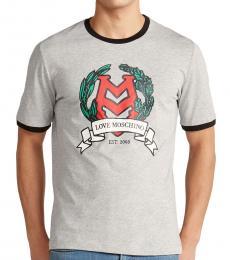 Light Grey Ringer Crest T-Shirt