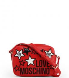 Love Moschino Red Star Small Crossbody