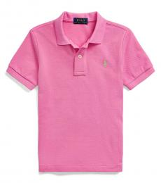 Little Boys Resort Rose Mesh Polo