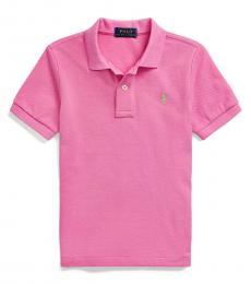 Ralph Lauren Little Boys Resort Rose Mesh Polo