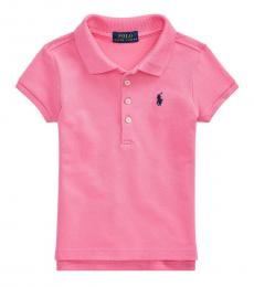 Little Girls Baja Pink Polo
