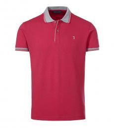 Trussardi Red Logo Classic Polo
