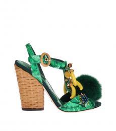 Green Banana Leaf Heels