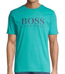 Turquoise Tiburt Logo T-Shirt