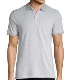 Heather Grey Short-Sleeve Cotton Polo