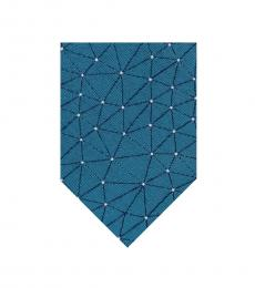 Teal Blue Constellation Tie