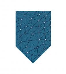 Calvin Klein Teal Blue Constellation Tie