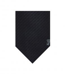 Versace Navy Geometric Tie