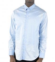 Emporio Armani Light Blue Cotton Popeline Shirt