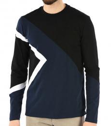 Neil Barrett Black Slim Fit Long Sleeve T-Shirt